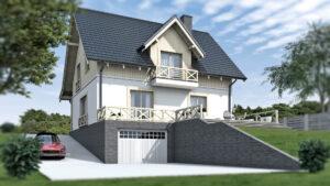 Bilczyce - dom z werandą